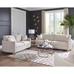 Corliss Beige Fabric Sofa with Arched Arms 50882-3