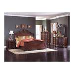 Deryn Park Queen Sleigh Bed 4pc Bedroom Set in room