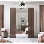 Platinum Collection 4 Door Wardrobe with 2 Mirror Doors