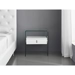 Bari White Lacquer Nightstand/End Table - 3