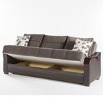 Bennett Sofa Bed in Armoni Brown by Istikbal storage