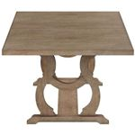 Brockway Cove Barley Brown Trestle Dining Table 110291 by Coaster Side