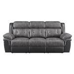 Saybrook Charcoal Tufted Cushion Reclining Sofa-3