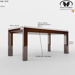 Carmen Walnut Lacquer Modern Dining Table by Franco Spain