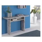 Ritz Vintage White Wash Console/Dining Table by Ca