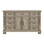 Catalonia Traditional Platinum Gold 9 Drawer Dresser 1824PG-5 By Homelegance