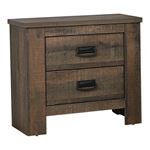 Frederick Weathered Oak 2 Drawer Nightstand 222962 By Coaster