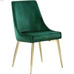 Karina Green and Gold Upholstered Velvet Dining-3