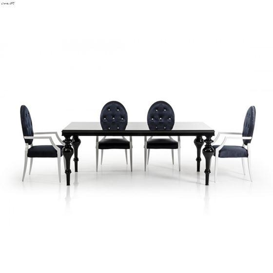 Bella Transitional Black Dining Table 3