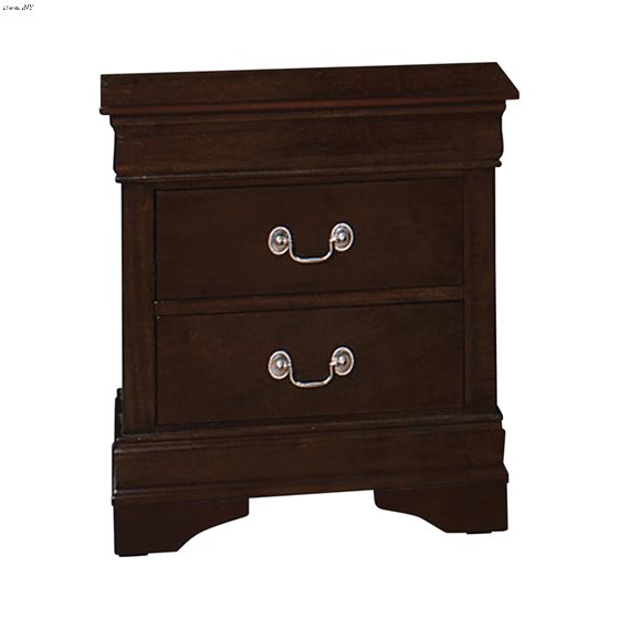 Louis Philippe Cappuccino 2 Drawer Nightstand 202412 by Coaster