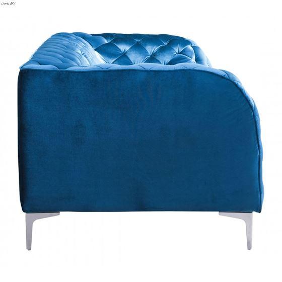 Providence Blue Velvet Tufted Sofa 900282 Side