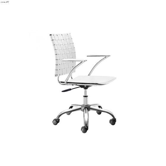 Criss Cross Office Chair 205031 White