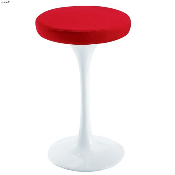 "Red and White 25"" Flower Stool Chair FMI9252"