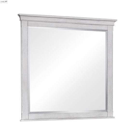 Franco Rectangular Mirror Antique White 205334 By Coaster
