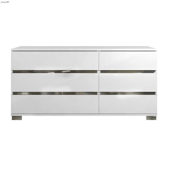 Spark High Gloss White Lacquer Dresser by Casabian