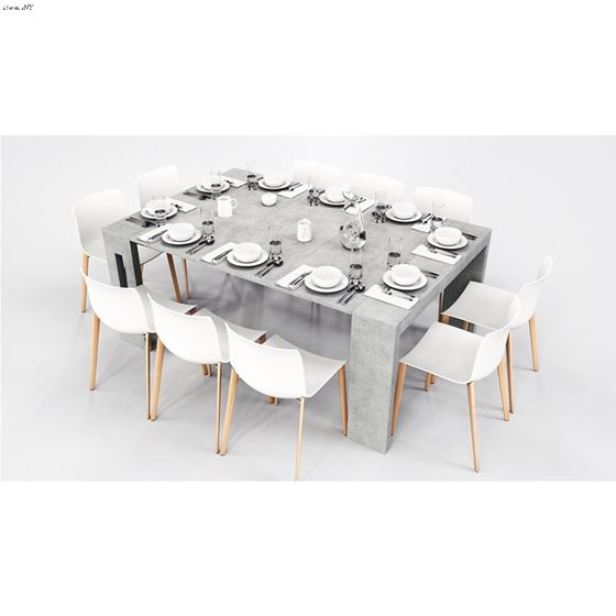 Elasto Gray Console/Dining Table - 3