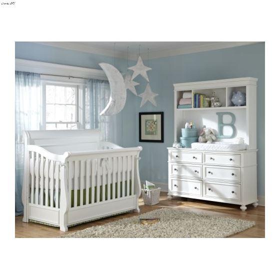 Madison White Convertible Crib