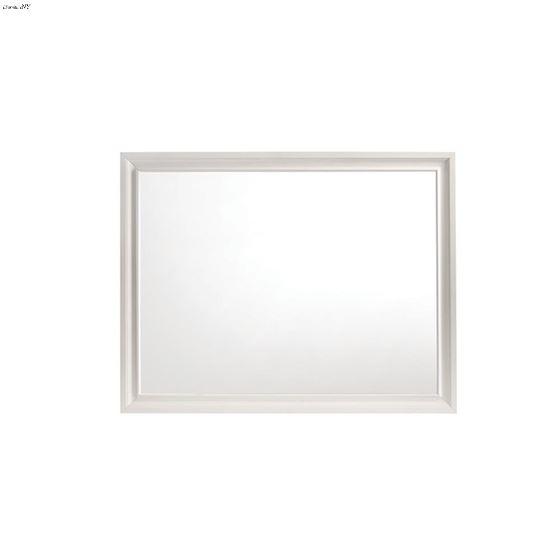 Miranda White Rectangular Mirror 205114-3