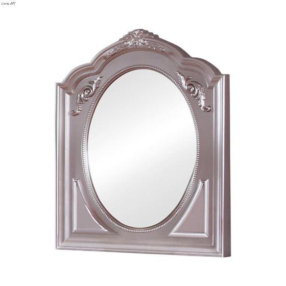 Caroline Metallic Lilac Framed Arched Mirror 400894 By Coaster