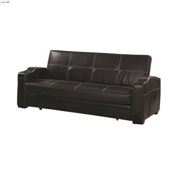 Avril Black King Sofa Bed with Cup Holders 300132