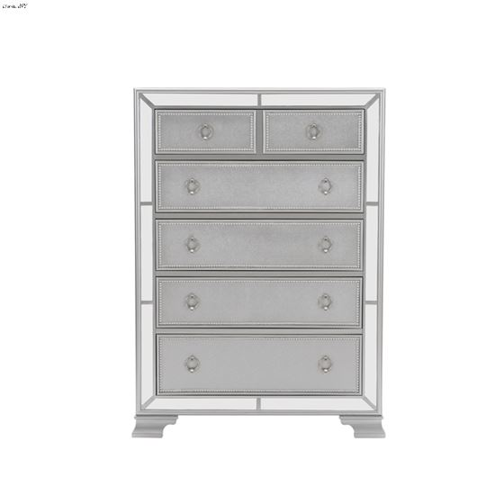The Avondale Collection Silver Mirrored Chest Fron