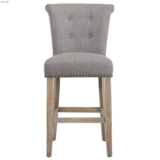 """Selma 26"""" Counter Stool Grey and Vintage Oak 203-221 Front"""
