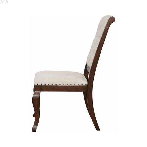 Brockway Cove Tufted Upholstered Side Chair Cream And Antique Java 110312 Side