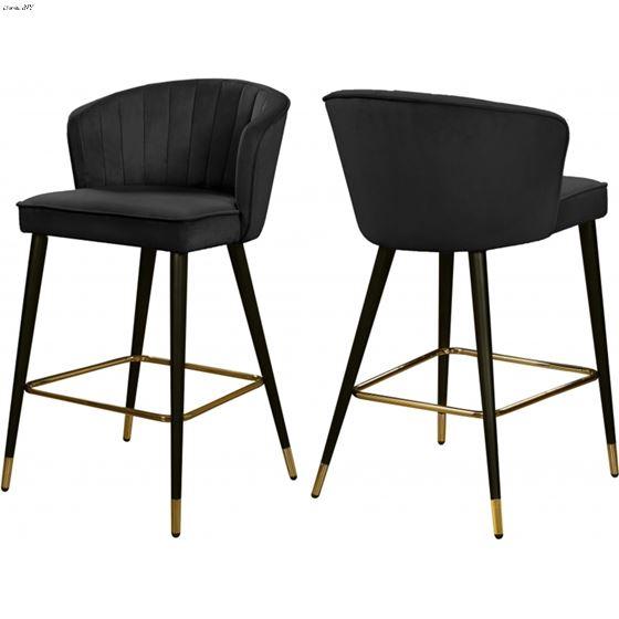 Awesome Cassie Black Velvet Upholstered Tufted Bar Counter Stoolblack Velvet Upholstery Lamtechconsult Wood Chair Design Ideas Lamtechconsultcom