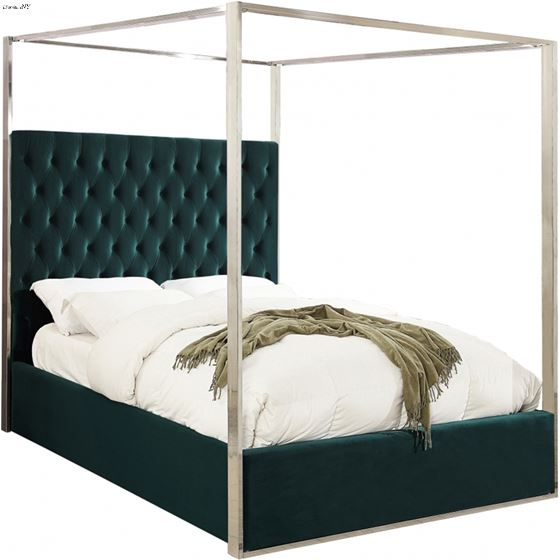Porter Green Canopy Bed