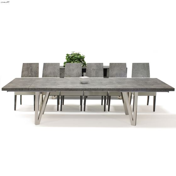 Prato Matte Concrete Dining Table by Sharelle open