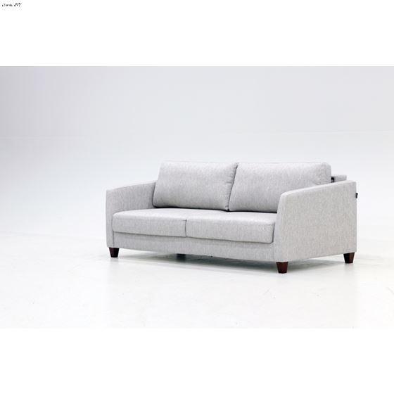 Monika King Size Sofa Sleeper Light Grey Side