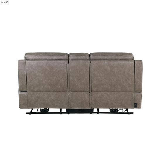 Wixom Taupe Power Recliner Loveseat 603518PP Back