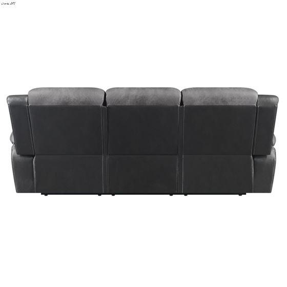 Saybrook Charcoal Tufted Cushion Reclining Sofa-4