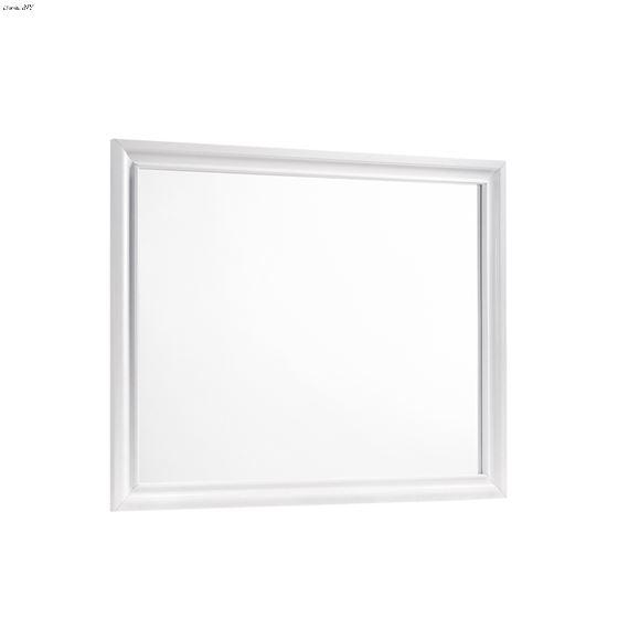 Barzini White Rectangular Mirror 205894 By Coaster