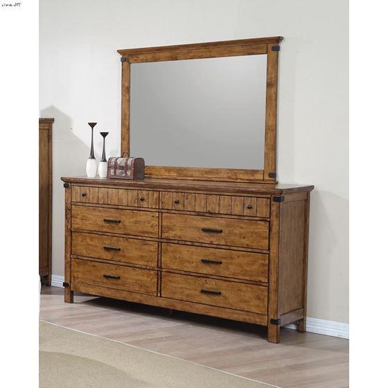 Brenner Rustic Honey Rectangular Mirror 205264-3