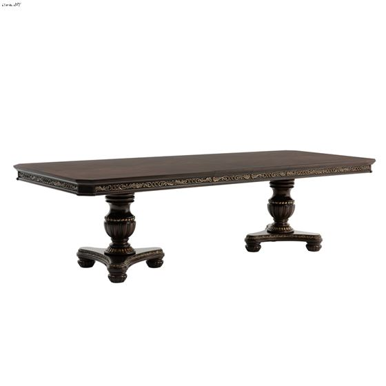 Russian Hill Double Pedestal Dining Table 1808-112 by Homelegance