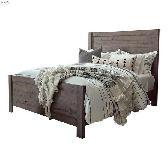 Oakridge Rustic Smokey Grey King Panel Bed 223071KE By Coaster