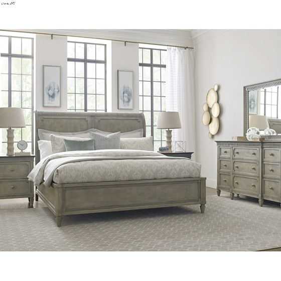 The Savona Collection 5pc Anna Sleigh Queen Bedroo