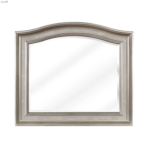 Bling Game Arched Mirror Metallic Platinum 204184 By Coaster