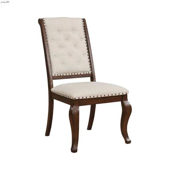 Brockway Cove Tufted Upholstered Side Chair Cream And Antique Java 110312