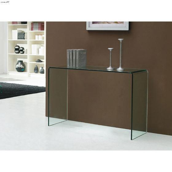 Casetta Clear Glass Console Table