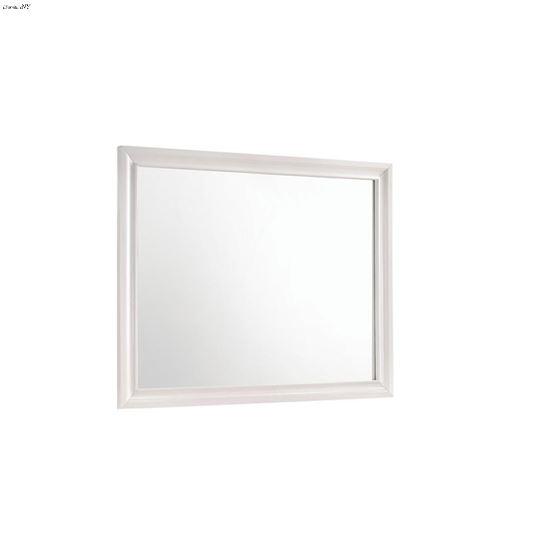Miranda White Rectangular Mirror 205114 By Coaster