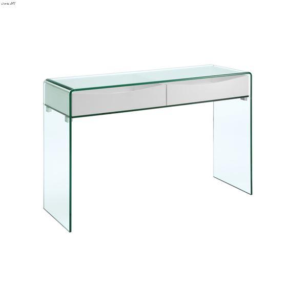 Ibiza High Gloss White Lacquer Console Table By Casabianca Homehigh