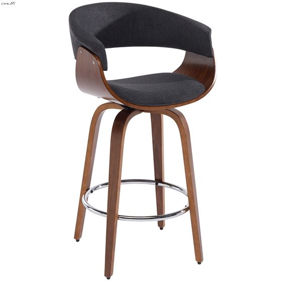 """Holt 26"""" Charcoal Grey Counter Stool 203-981 by Inspire"""