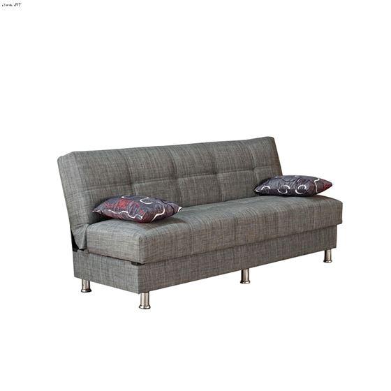 Paris Armless Sofa Bed in Grey Fabric
