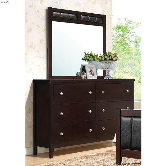 Carlton Cappuccino Rectangular Mirror 202094-3