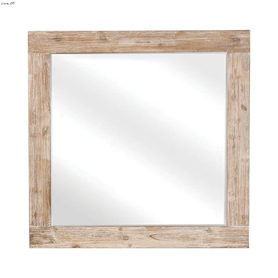 Marlow Rough Sawn Square Mirror 215764 By Coaster