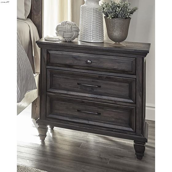 Avenue Weathered Burnished Brown 3 Drawer Nights-3