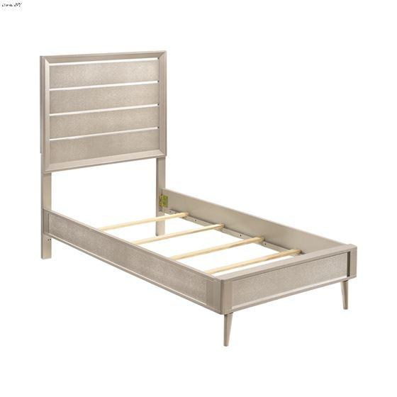Ramon Metallic Sterling Twin Panel Bed 222701T-3