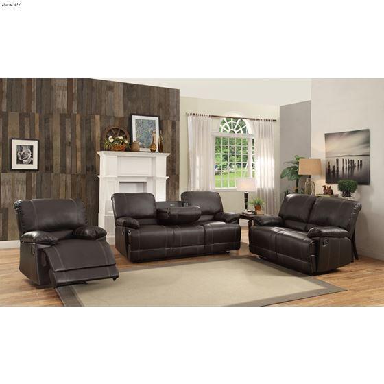Cassville Dark Brown Living Room Recliner Collecti
